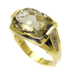 Lemon Topaz Ring .