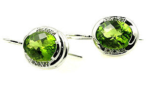 Peridot earrings .