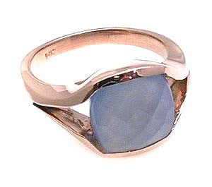 Blue Chalcedony Ring.