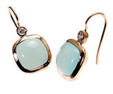 Blue/Green Chalcedony Earrings .