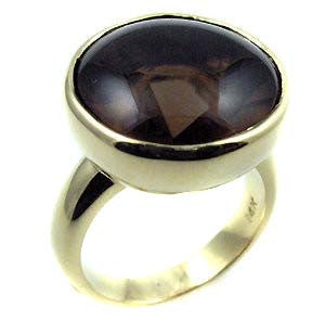 Smokey Quartz ring .