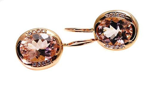 MORGANITE EARRINGS.