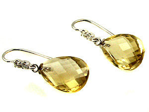 Citrine earrings .