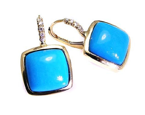 Turquoise earrings .