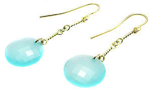 Blue/Green chalcedony earrings
