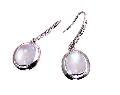 MOONSTONE EARRINGS .