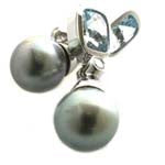 Aquamarine earrings .
