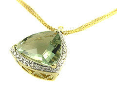 Green Quartz Pendant .