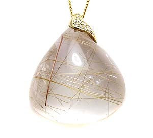 Rutilated Quartz Pendant .