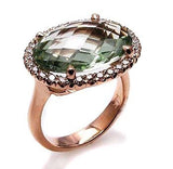 Green amethyst ring .