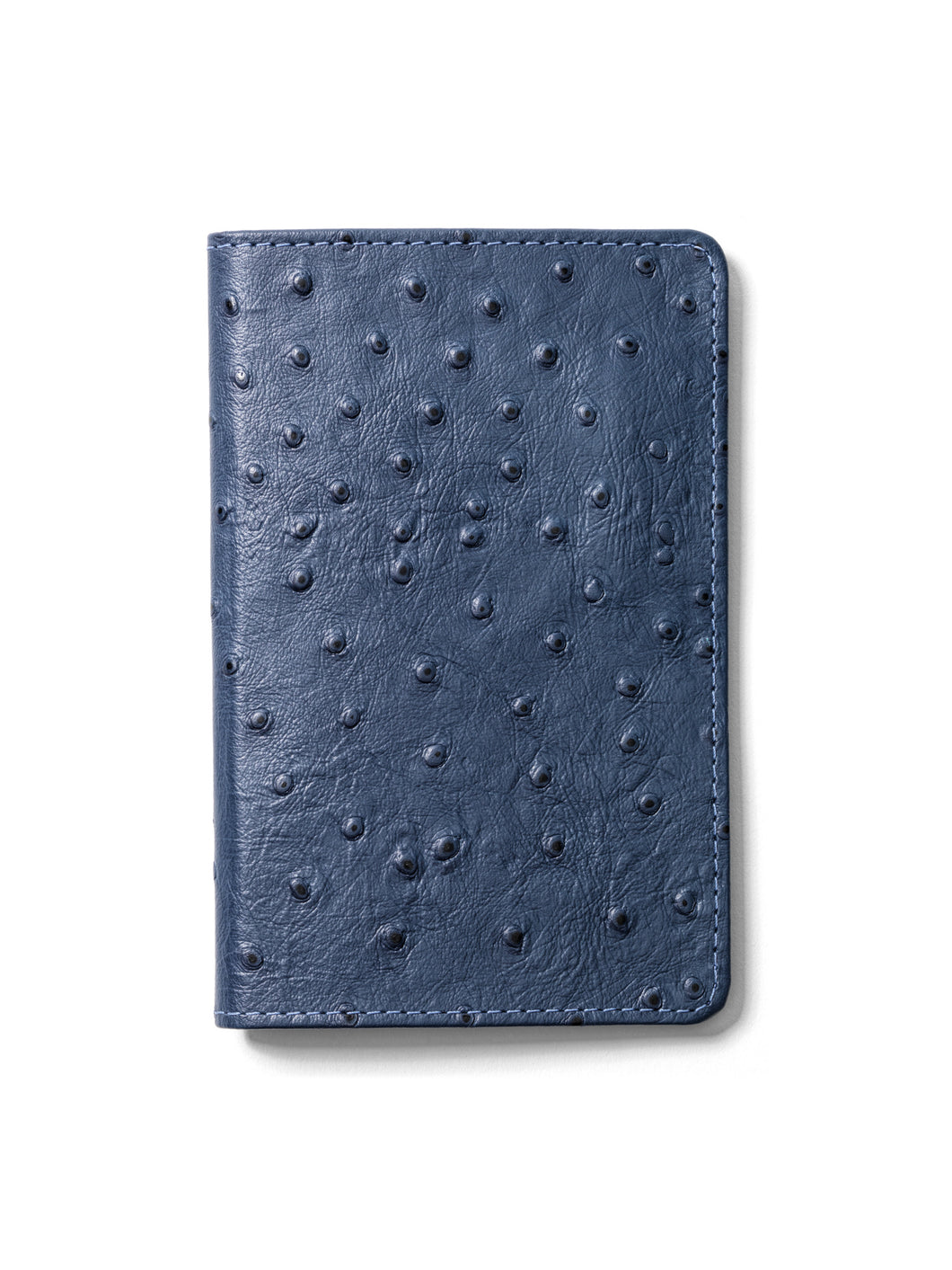 Claridad (Clarity) Blue Ostrich Leather Journal-Passport