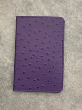 Load image into Gallery viewer, Amethyst Ostrich Leather Passport Holder