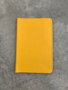 Canary Yellow Leather Passport Holder