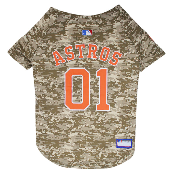 Houston Astros Camo Dog Jersey