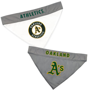 Oakland Athletics Dog Bandana - Reversible