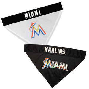 Miami Marlins Dog Bandana - Reversible