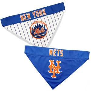 New York Mets Dog Bandana - Reversible