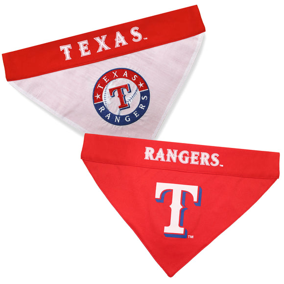 Texas Rangers Dog Bandana - Reversible