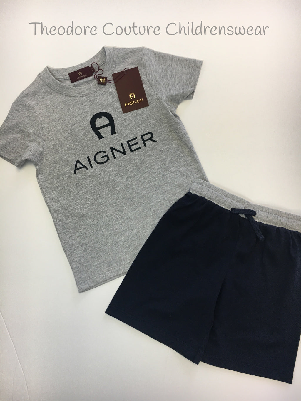 7c1156701 Aigner T Shirt and Short Set