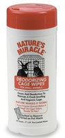 NATURE'S MIRACLE DEODORIZING CAGE WIPES