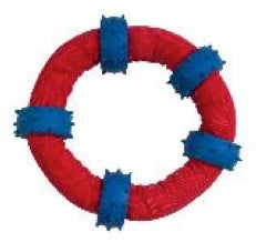 DOG TOY TUFF NYLON RING AND SPIKES 6.5""