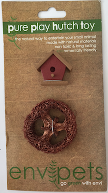 CHEW TOY WOODEN BIRD HOUSE & LOOFA COMBO