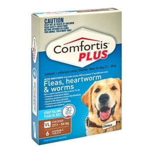 COMFORTIS PLUS BROWN FOR XLARGE DOGS 27.1  -54KG (6 PACK)