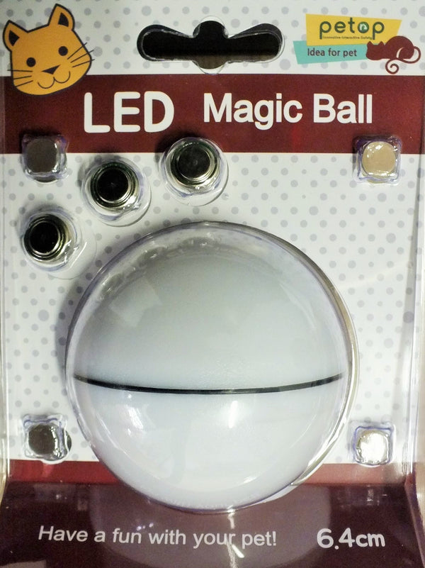 CAT TOY LED BALL WHITE