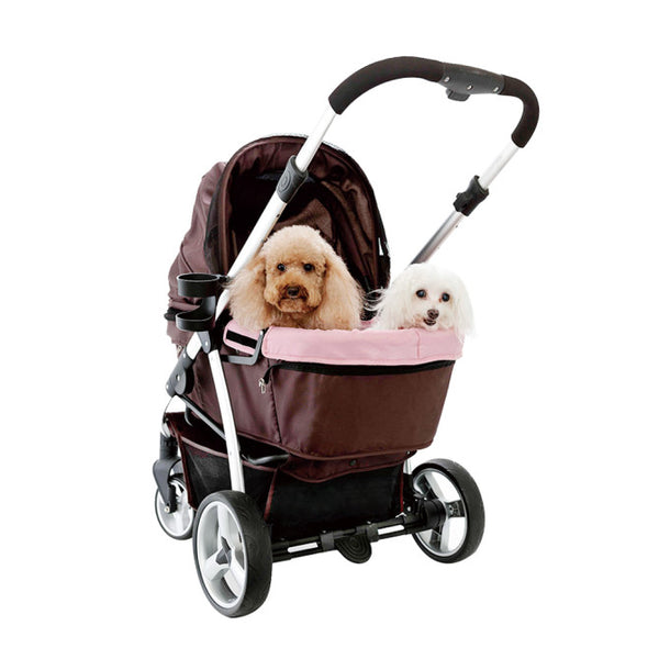 RETRO PET PRAM - BROWN