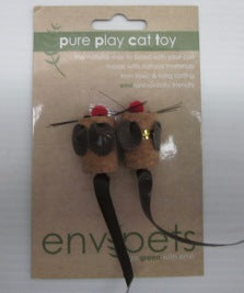 CAT TOY CORK MOUSE 2PC