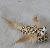 CAT TOY JUTE GOLD FISH