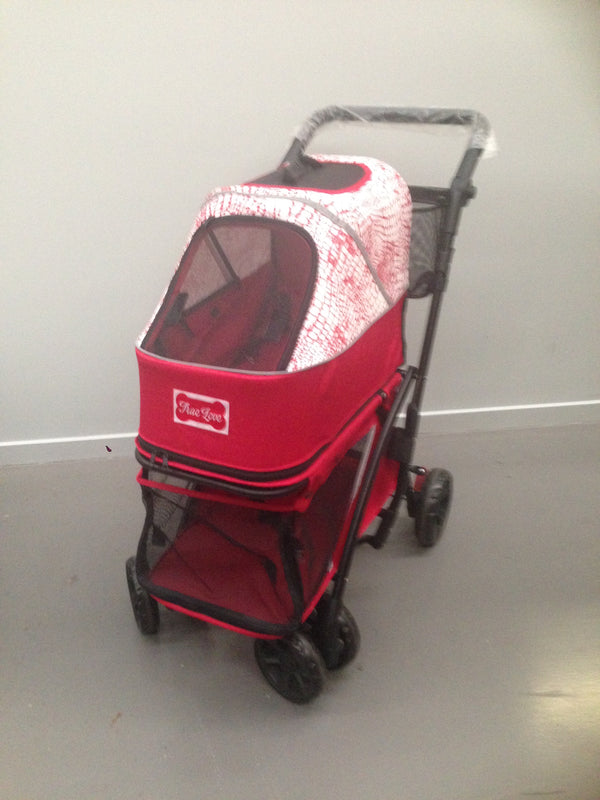 PRAM DOUBLE DECKER RED & WHITE