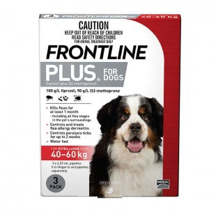 FRONTLINE PLUS FOR EXTRA LARGE DOGS (3 PACK)