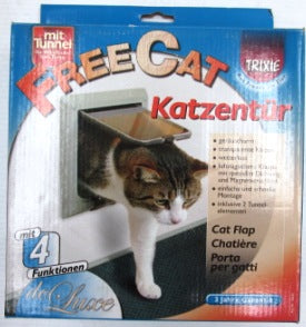 CAT DOOR 4 WAY LOCKING WITH TUNNEL (GREY)