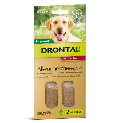 DRONTAL CHEWABLE FOR LARGE DOGS (2 PACK)