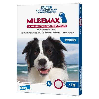MILBEMAX ALLWORMER FOR DOGS OVER 5KGS (2 PACK)