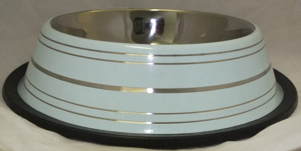 BOWL STAINLESS STEEL NON SKID 16oz BLUE