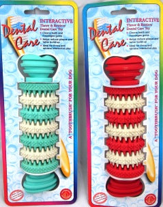 DOG CHEW TOY RUBBER DENTAL CARE 6""