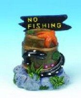 ORNAMENT RESIN EEL WITH NO FISHING POST SMALL