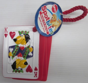 DOG TOY SQUEEKY CARD DECK POKER PUPS