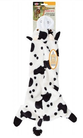 DOG TOY SKINNEEEZ COW JUMBO BITE 24""