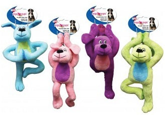 DOG TOY PLUSH YOGA DOGS 11""