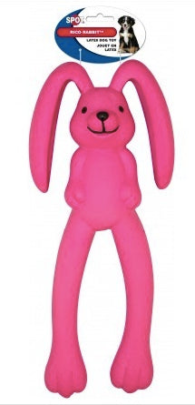DOG TOY LATEX RICO RABBIT 14.5""