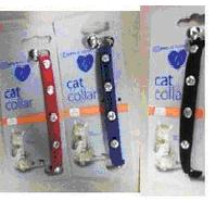 CAT COLLAR VELVET BLUE