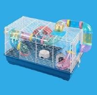 CAGE WIRE TOP WITH PLASTIC BASE & TUNNELS 46x29x30cm