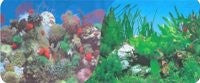 TANK BACKGROUND 2SIDED CORAL/WATER GRASS 40CM 15M ROLL