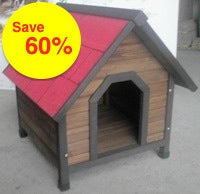KENNEL WOODEN DARK TIMBER SMALL