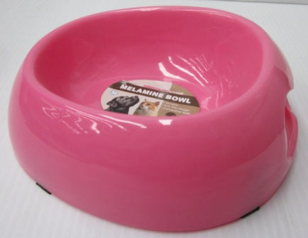 BOWL MELAMINE PINK LARGE