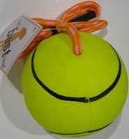 RUBBER BALL WITH TIE NEON 90mm