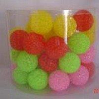 CANISTER OF CAT TOYS CRYSTAL LOOK BALLS 50 / PCS